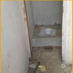WC in aanbouw