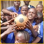 Uitdelen Voetbal